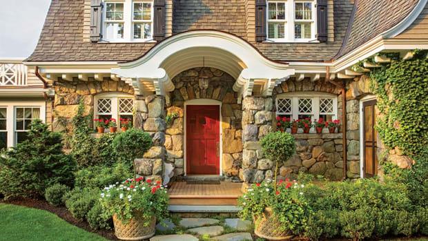 classic red door