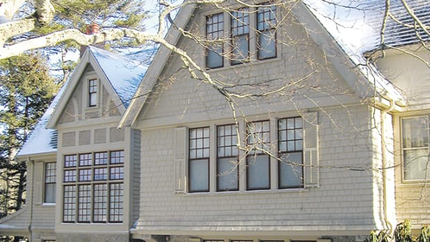 shingle style home in mt desert island, ME