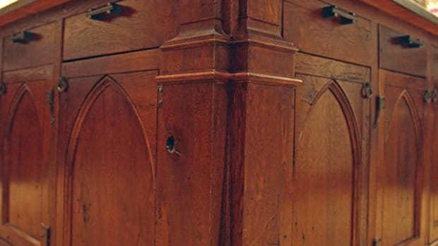 historic millwork in kitchen stan hywet house
