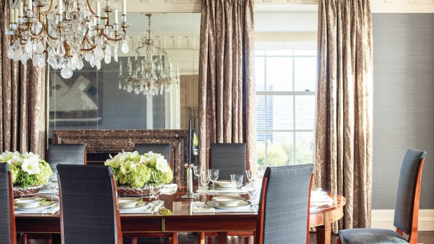 Lakeview dining room, interior designer Suzanne Lovell
