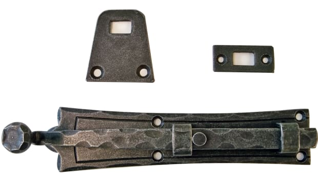 iron lock and lever surface bolt 8 in