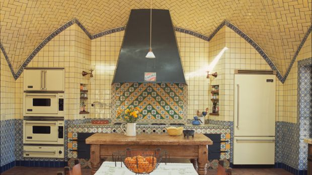 new old french ranch kitchen