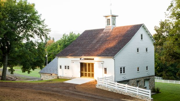 Bank barn renovation exterior
