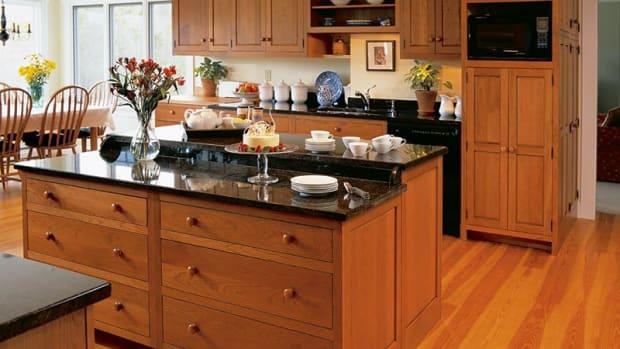flat wood panel cabinets