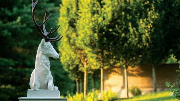 """The """"wild stag of the garden,"""" as he is affectionately called, is a new addition meant to add whimsy and historical accuracy."""
