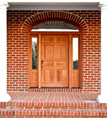 Solid wood front door4