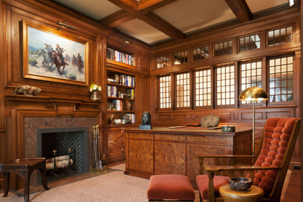 arts crafts interiors homes craftsman office period modern interior mission magazine american classic furniture traditional read findzhome rugs
