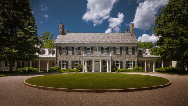 Colonial revival property period homes magazine for Colonial homes magazine house plans