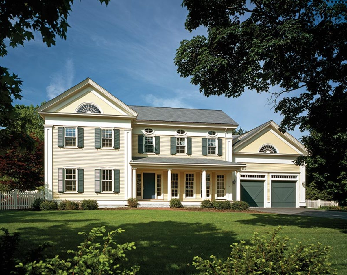 Rebuilding a greek revival house in maine classic homes for Greek revival architecture characteristics