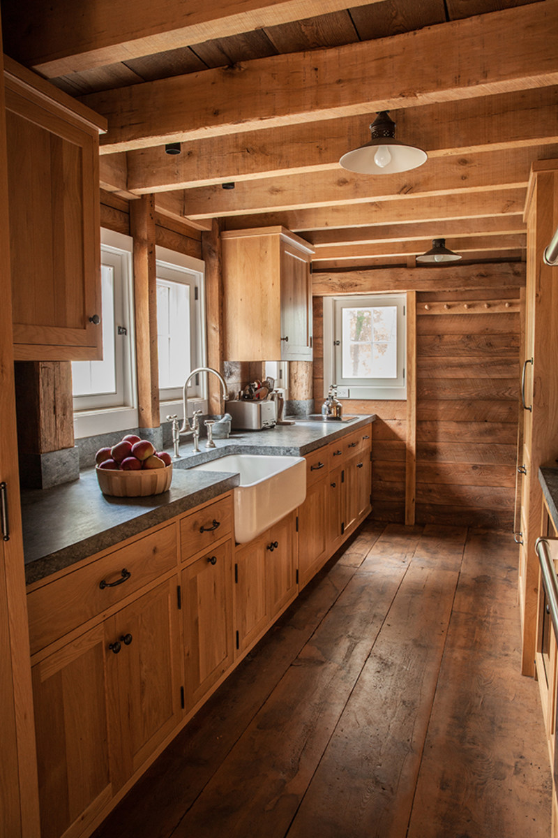 Kitchen of renovated barn