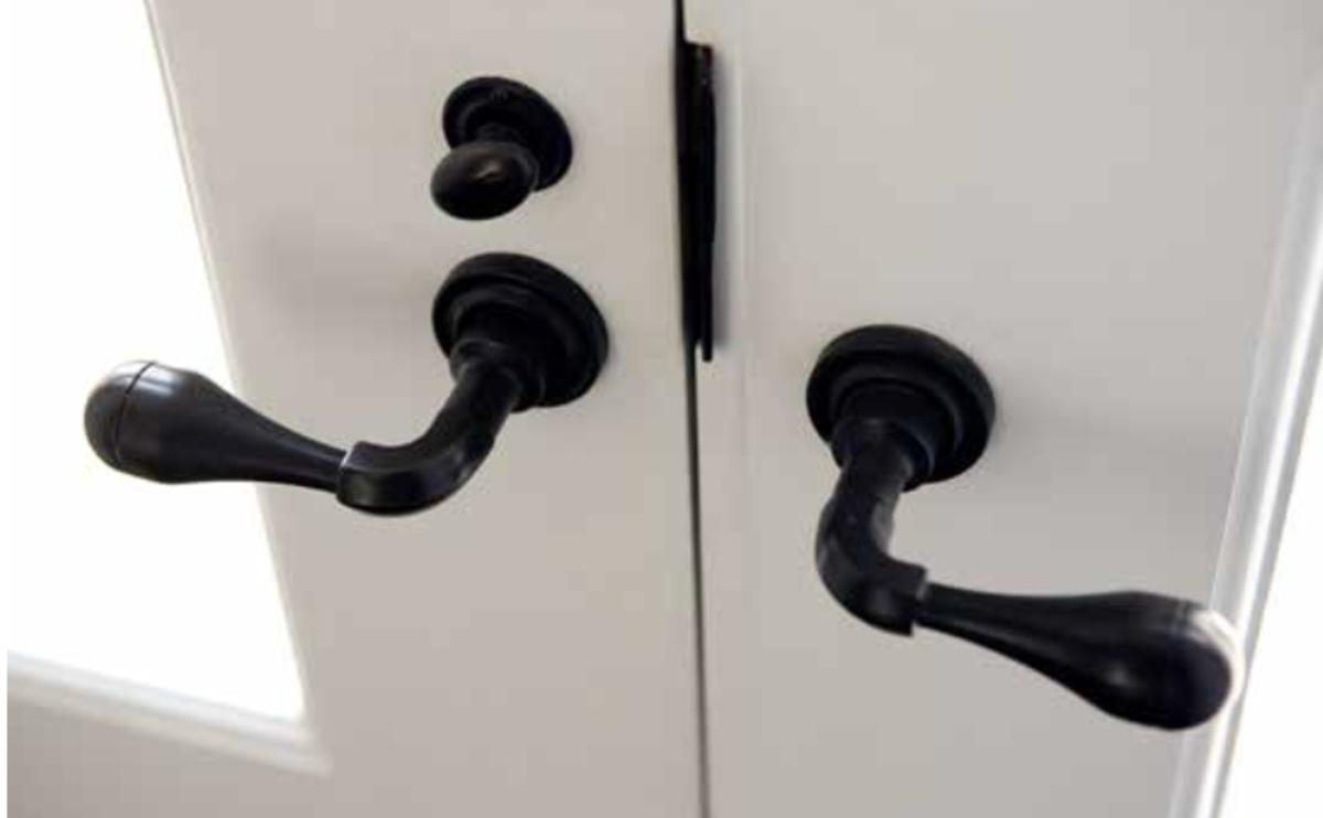 Double door handles.