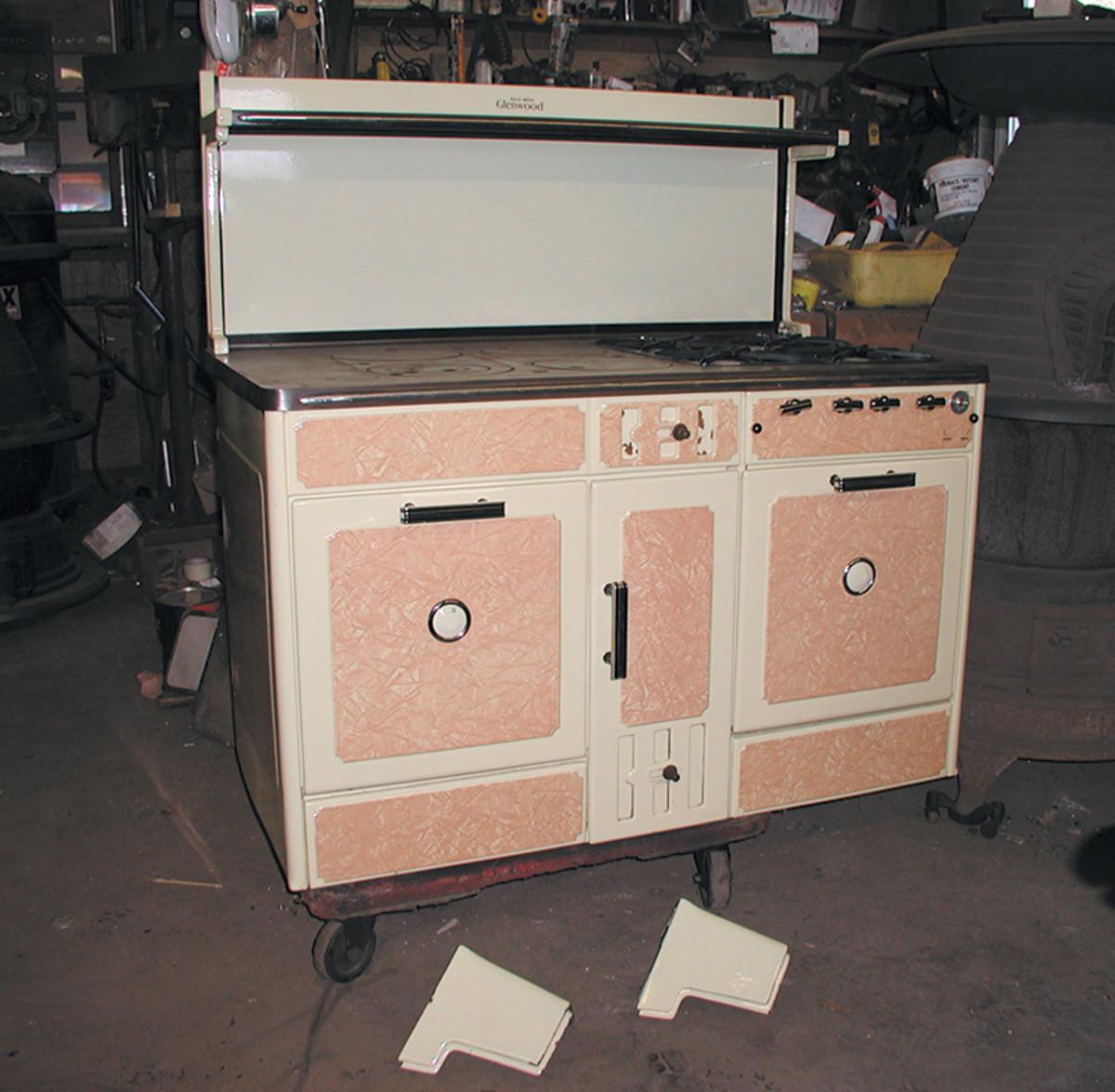 antique range stove