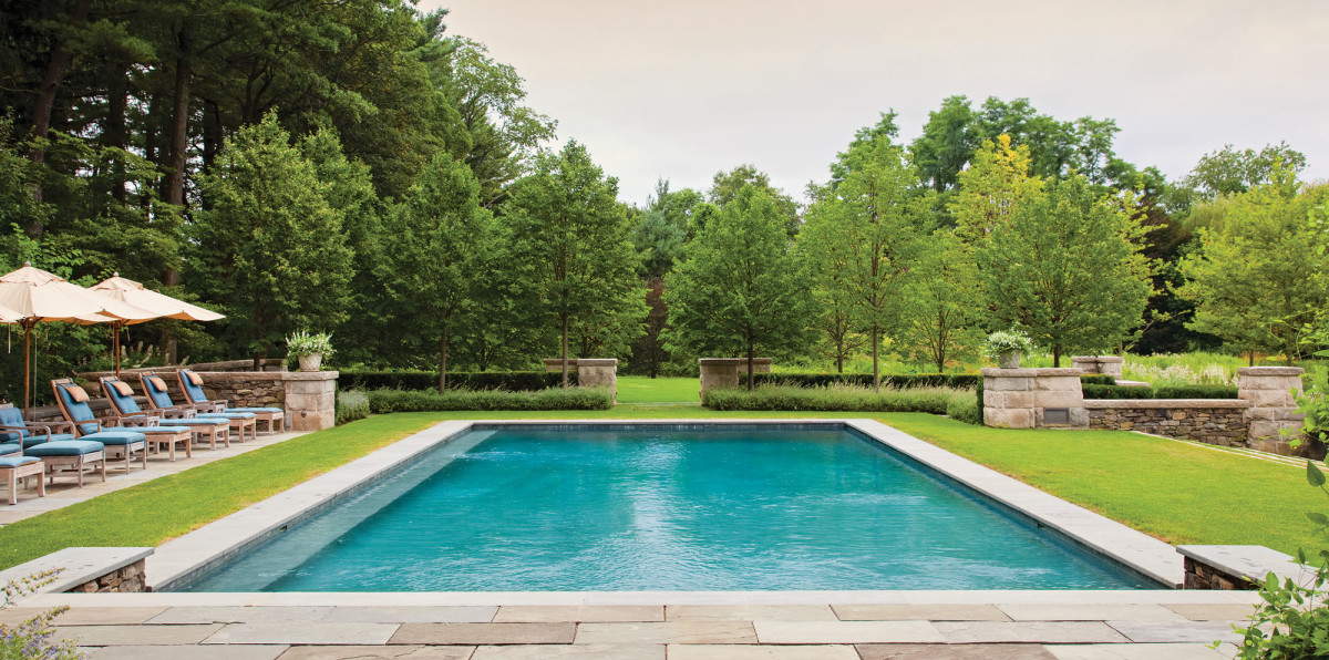 The Cedars pool area, Thomas L. Woltz design