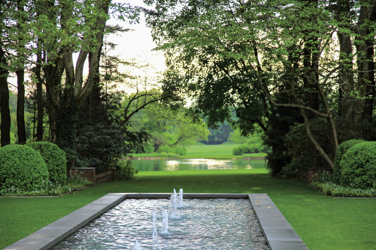 The Cedars' reflecting pool, Thomas L. Woltz design