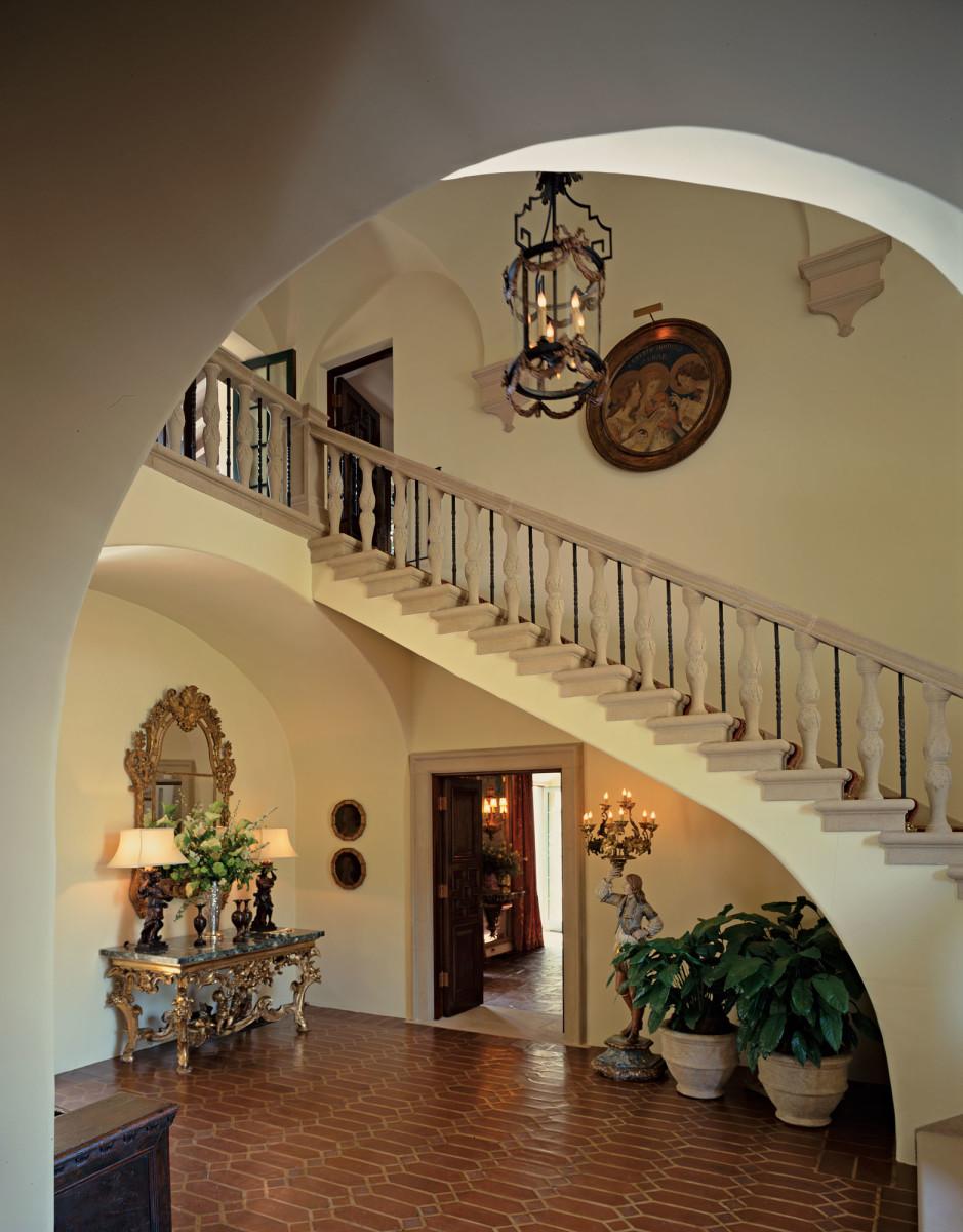 Mediterranean Revival staircase