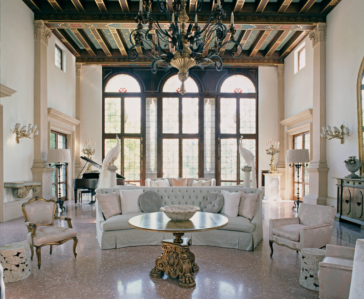 Mediterranean Revival ballroom, Michael Burch Architects