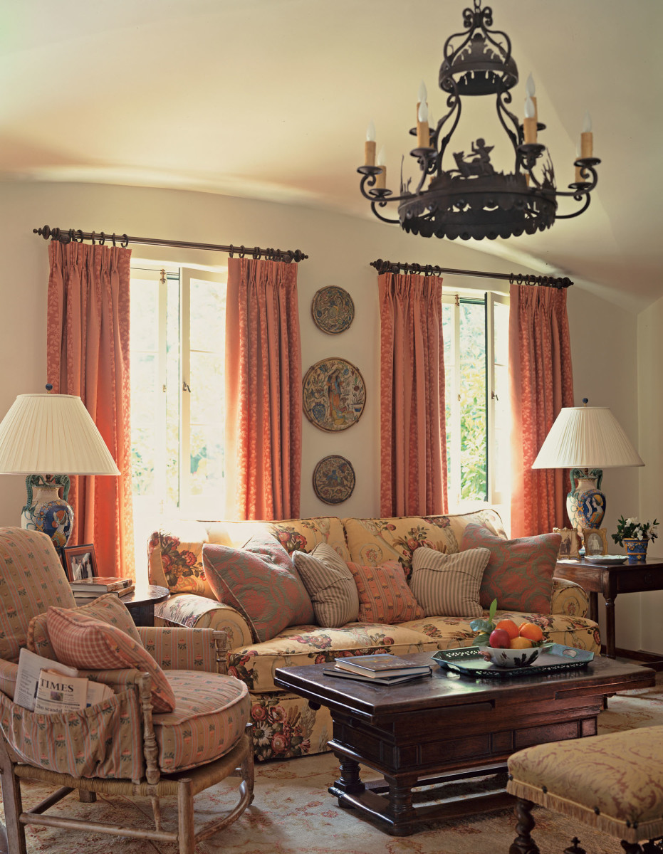 Mediterranean Revival family room