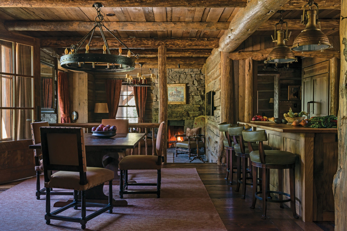 log cabin kitchen, Peter Zimmerman Architects