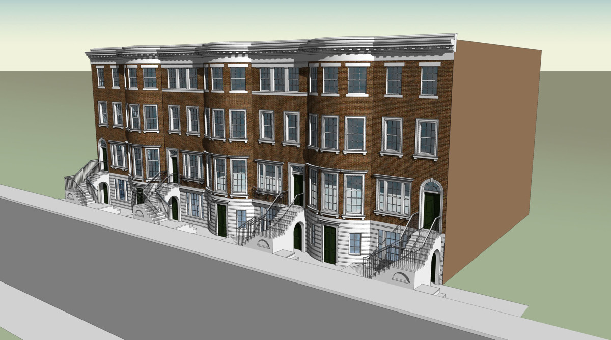 3D townhouse model, Fairfax & Sammons Architects