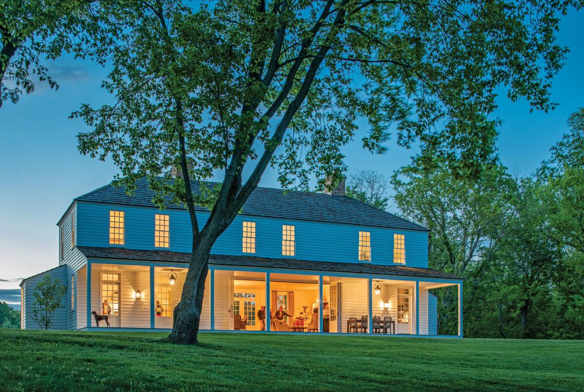 farmhouse at night, Jones & Boer Architects