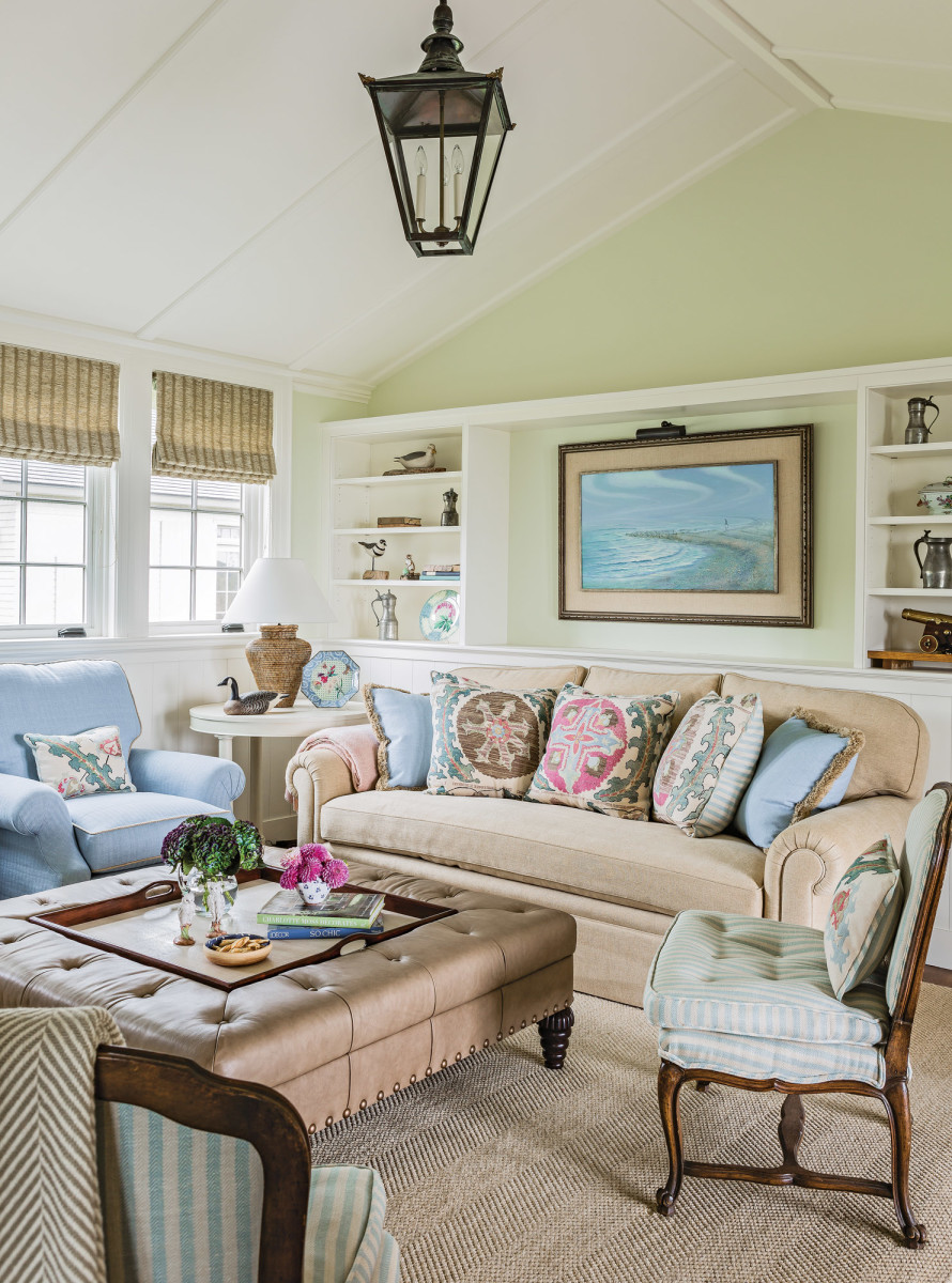 shingle style living room