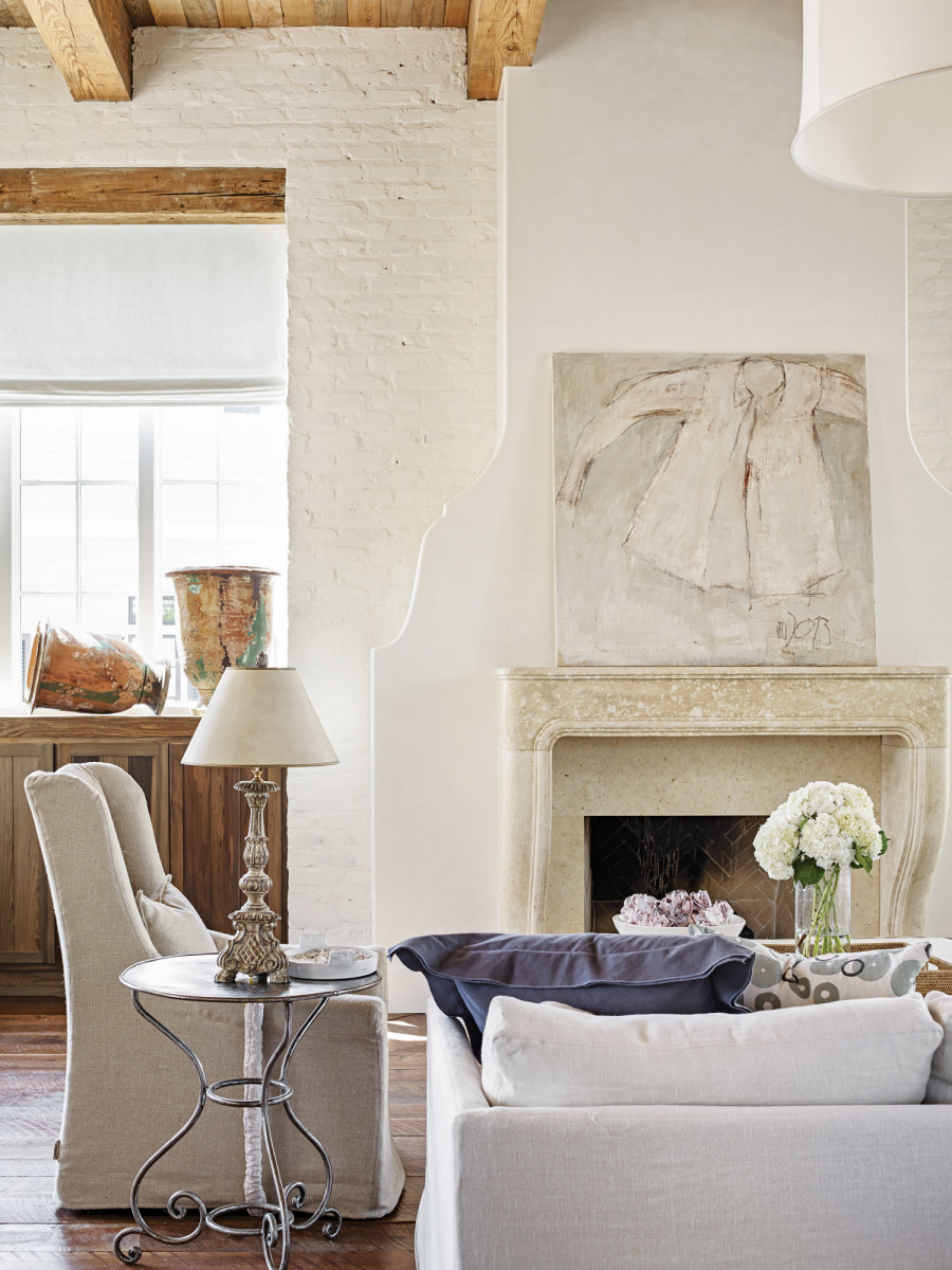 French Low-Country Creole living room