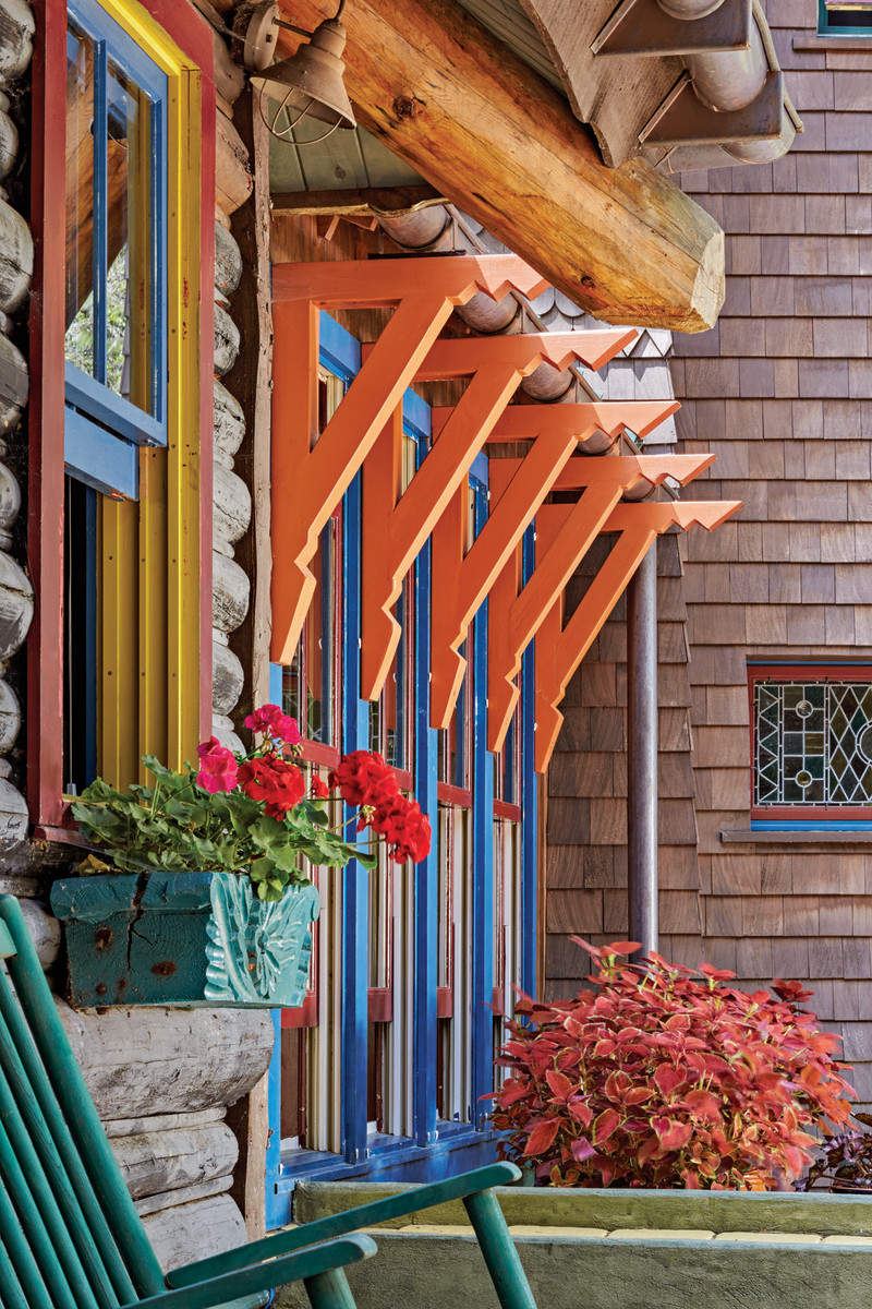 The window brackets on the connector are defined by their traditional-inspired design and bright color.