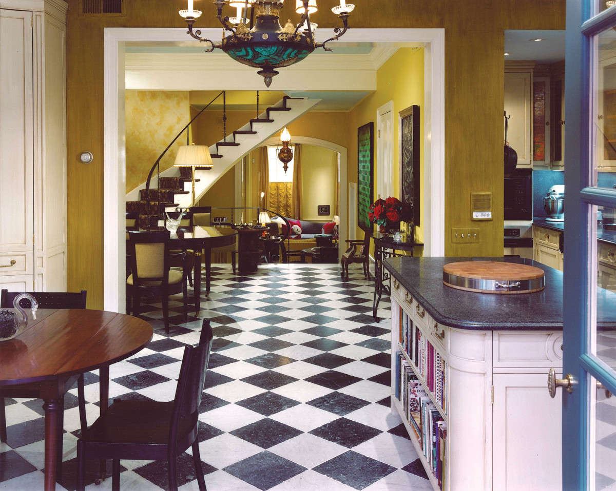checkerboard tile flooring rittenhouse square townhouse
