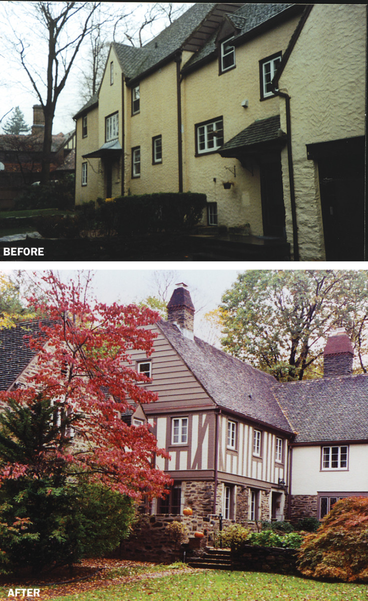 tudor revival house before and after