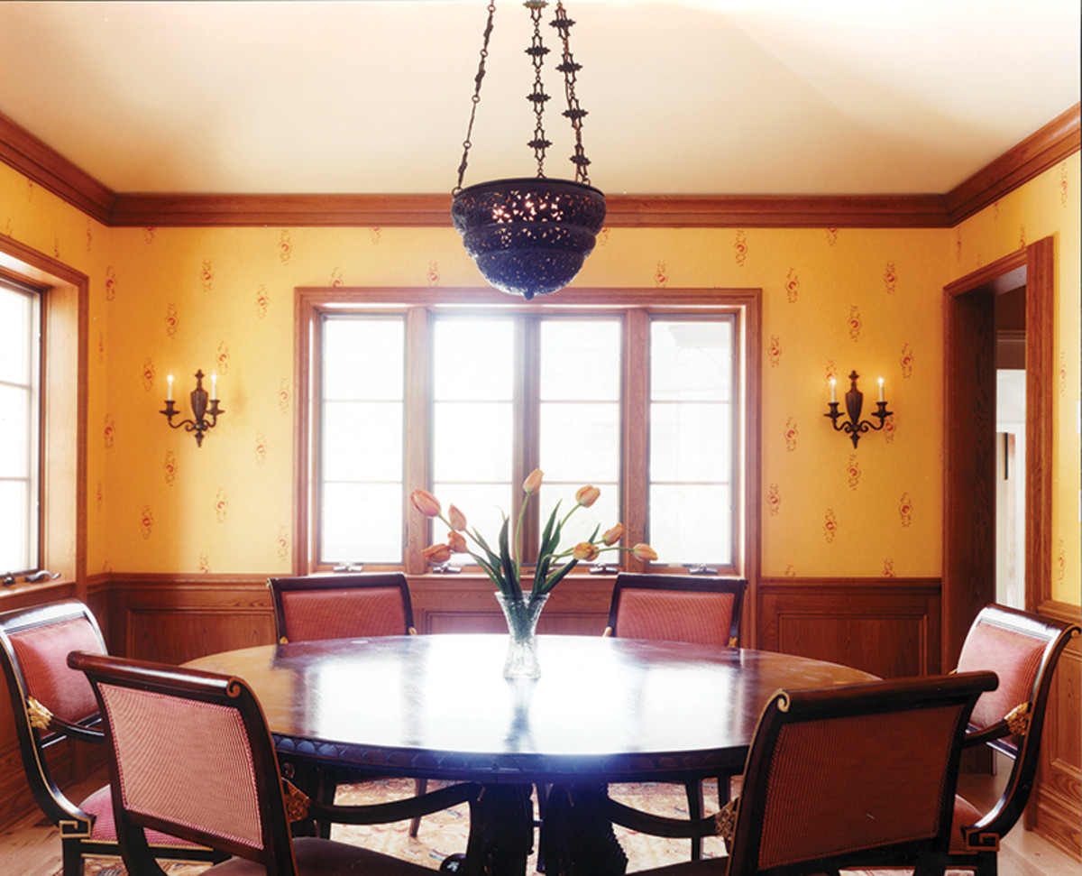 tudor revival dining area