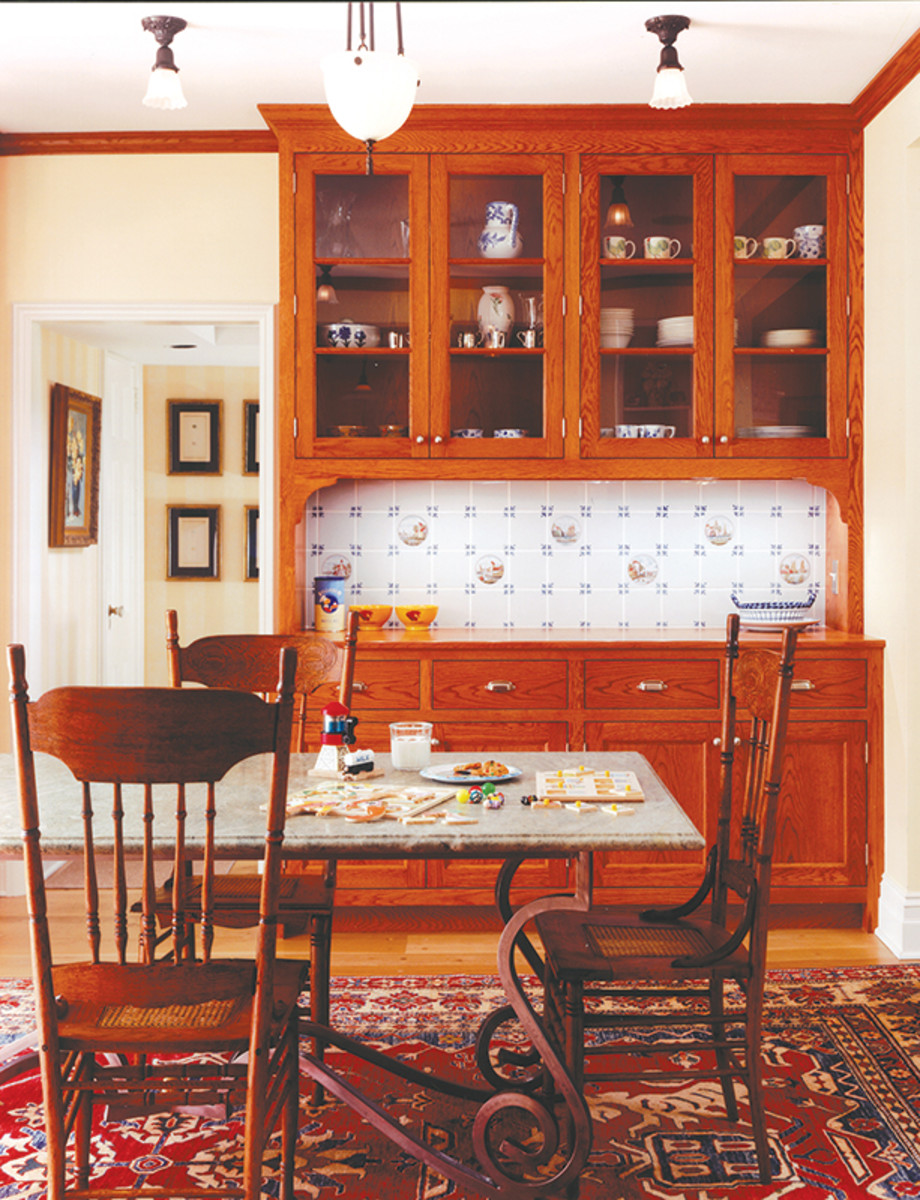 tudor revival kitchen cabinets