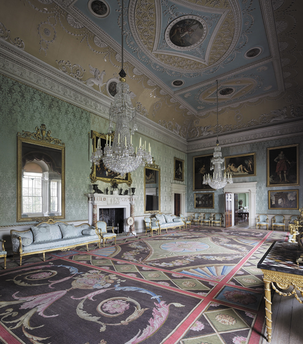 saloon carpet at saltram house