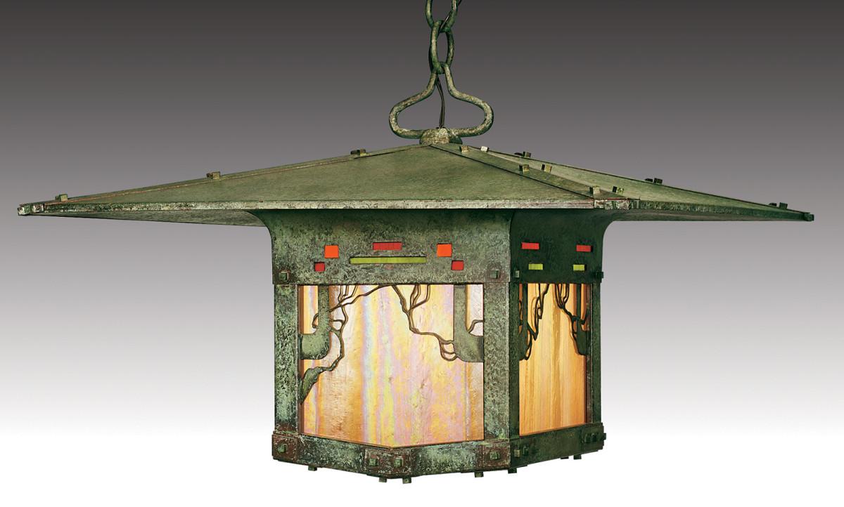 Old californai arts and crafts lantern