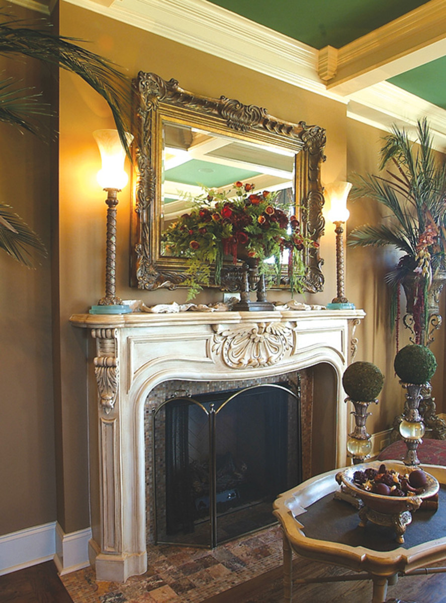 ornate mantel