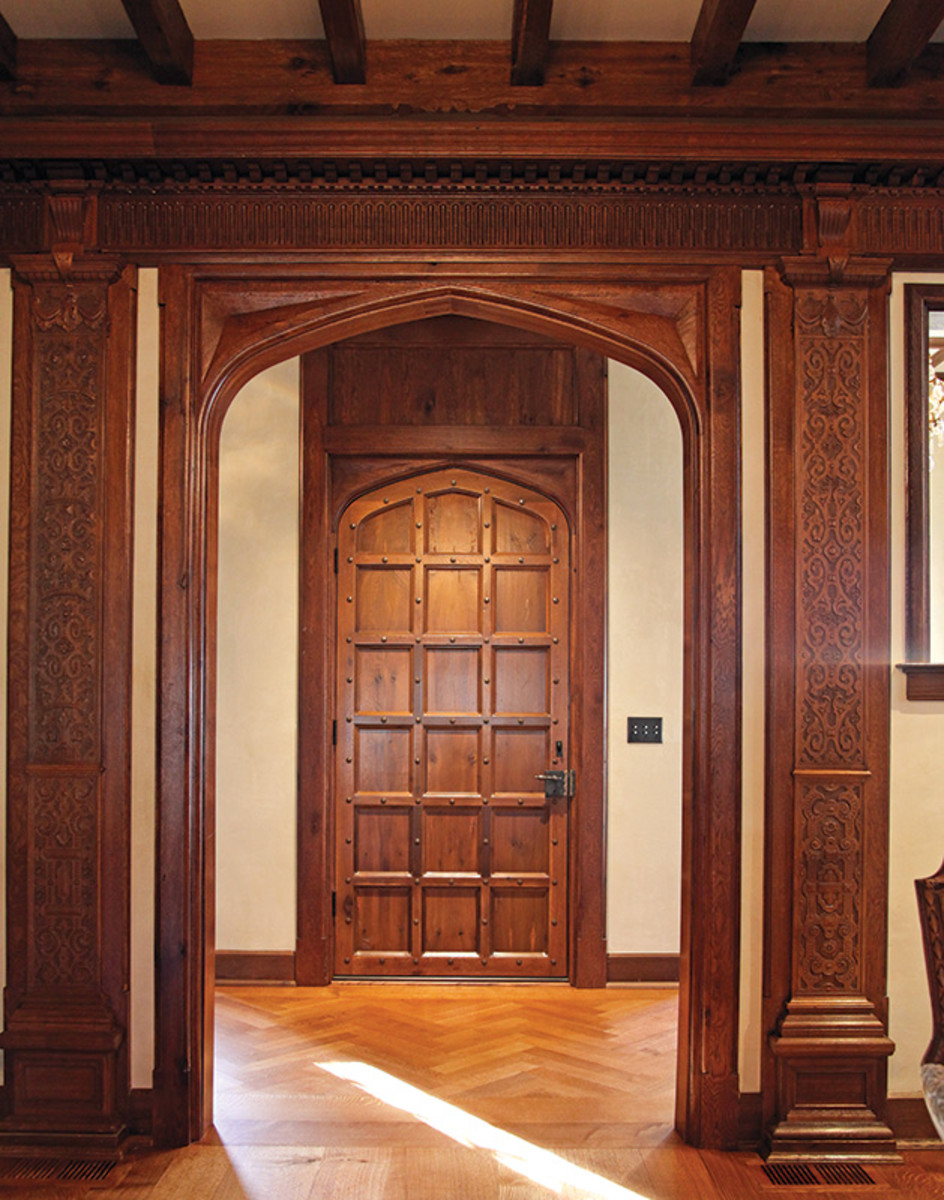 stan hywet woodwork by hull