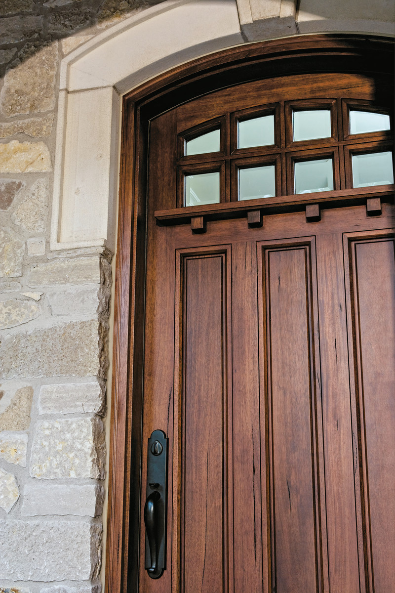 Pella designs doors with Arts & Crafts detailing. Photo courtesy of Pella.