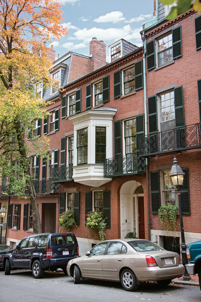 Beacon Hill Federal townhouses