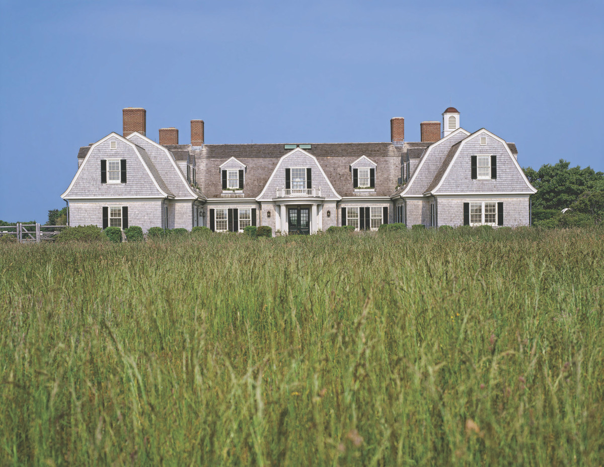Ahearn designs an H-shaped gambrel-roofed waterfront home on Martha's Vineyard. Photo courtesy of Patrick Ahearn.