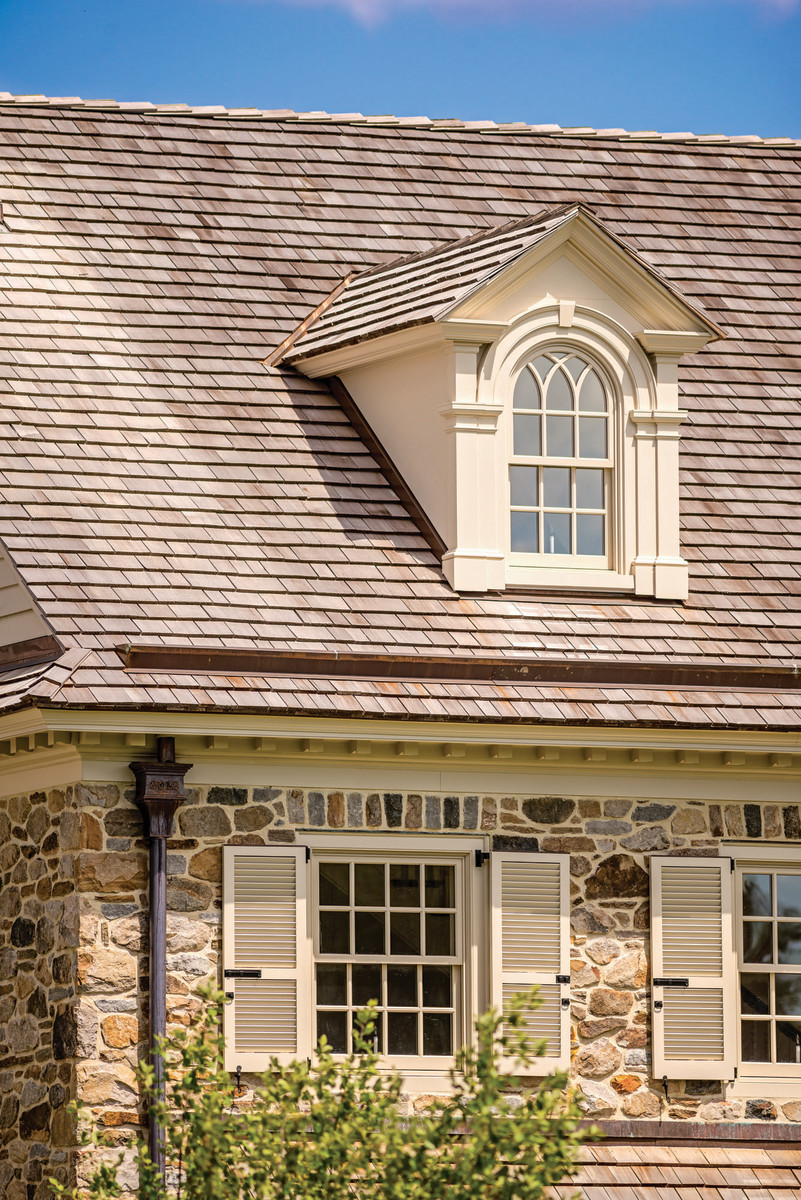 wood roofing on new home by Period Architecture in  Chadds Ford, Pennsylvania
