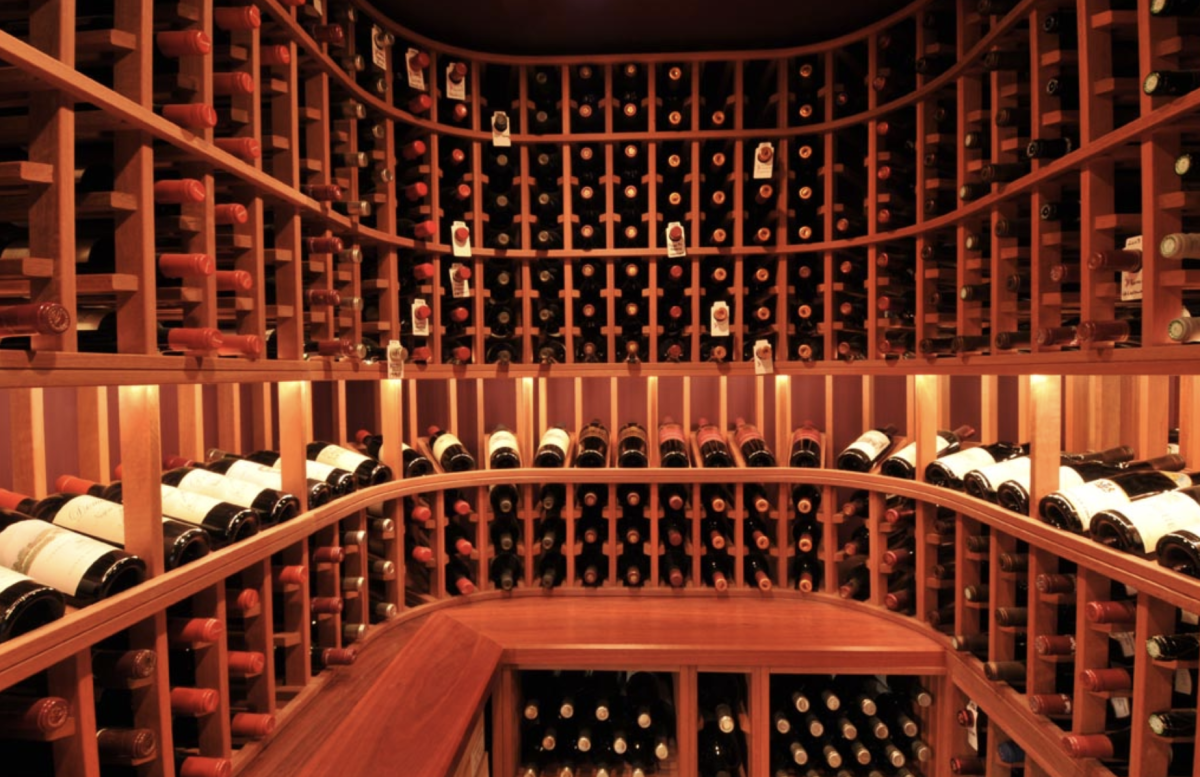 Paul Wyatt Designs wine cellar