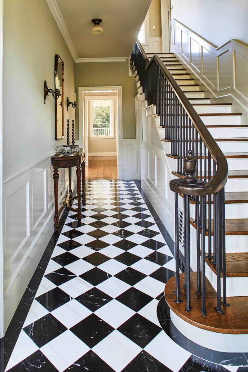 black-and-white tile