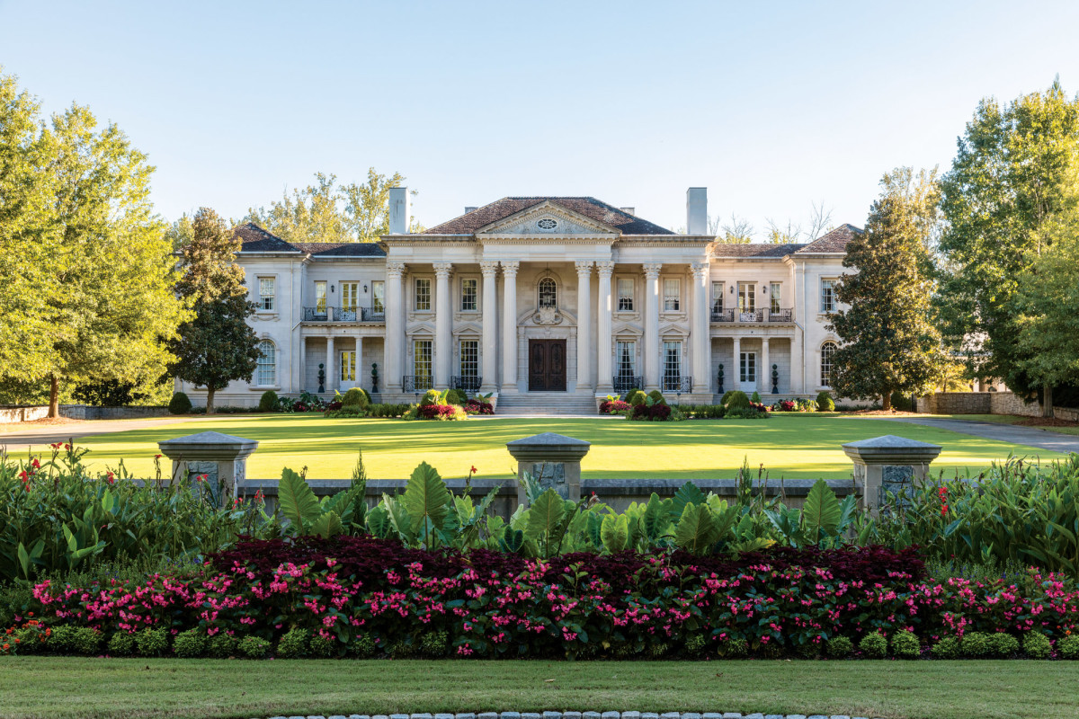 Indiana limestone sculpted mansion, Harrison Design