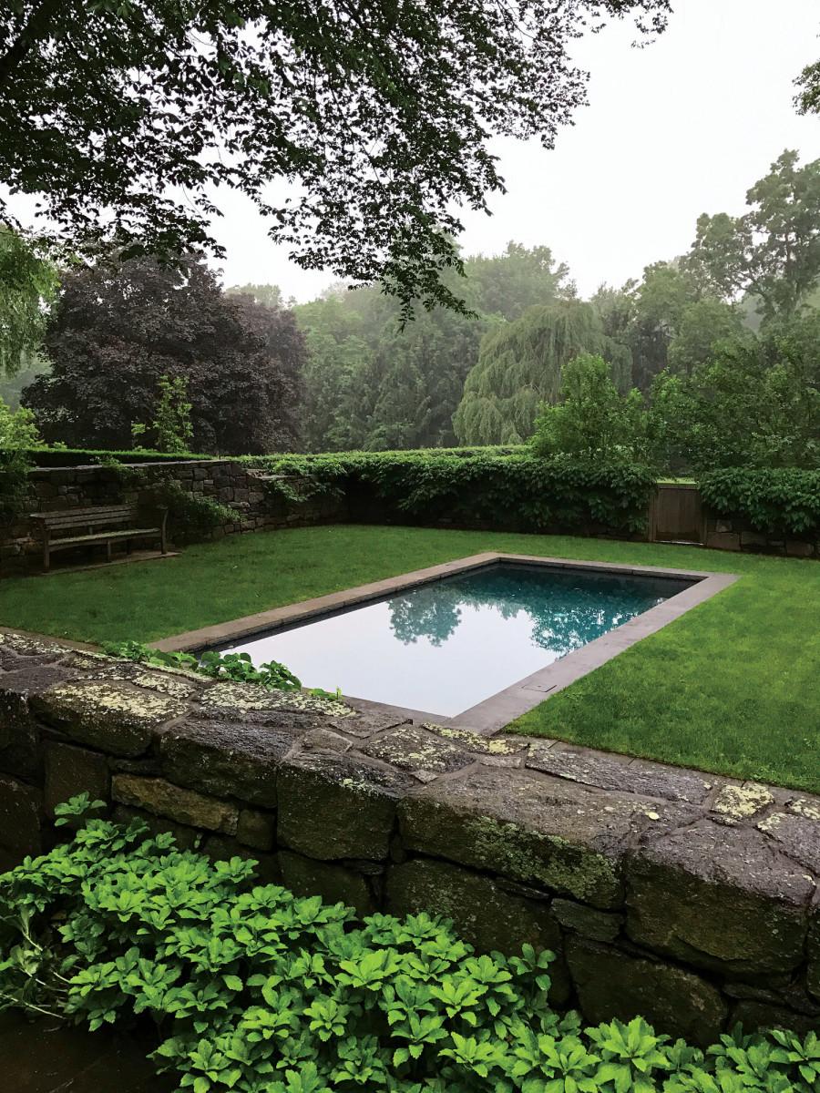 period-style pool, Doyle Herman Design Associates