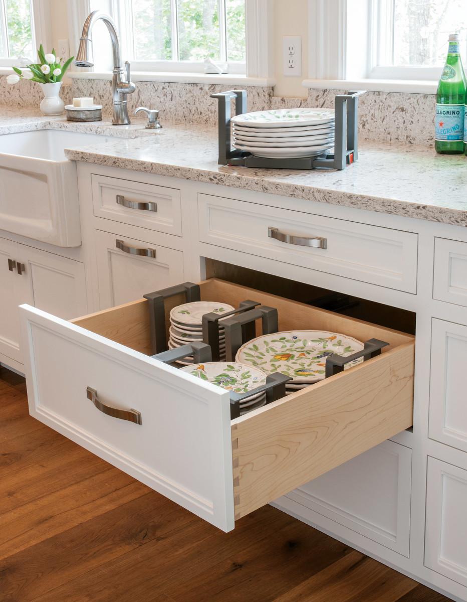Plate pegs, custom cabinet