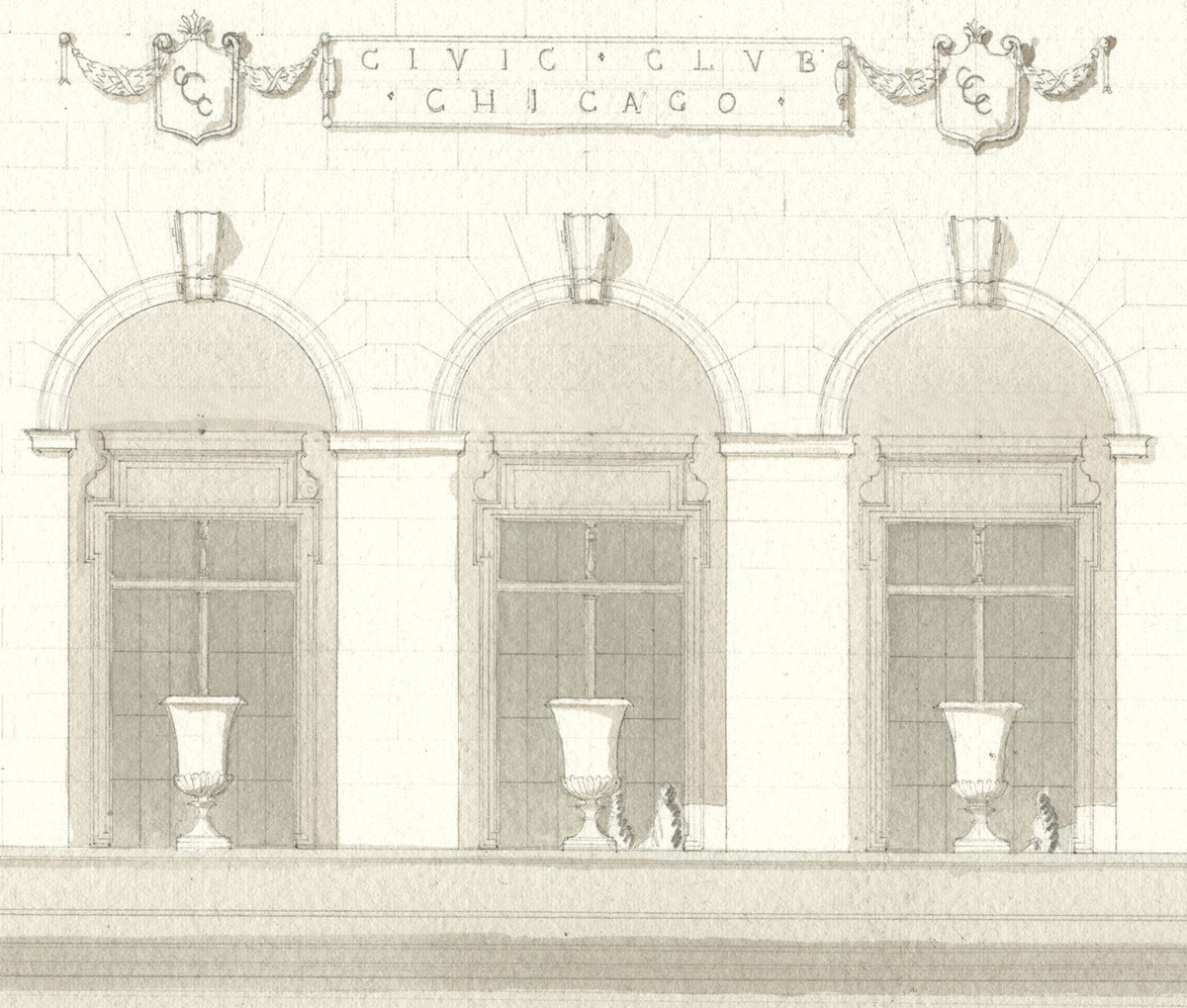 civic club - loggia detail