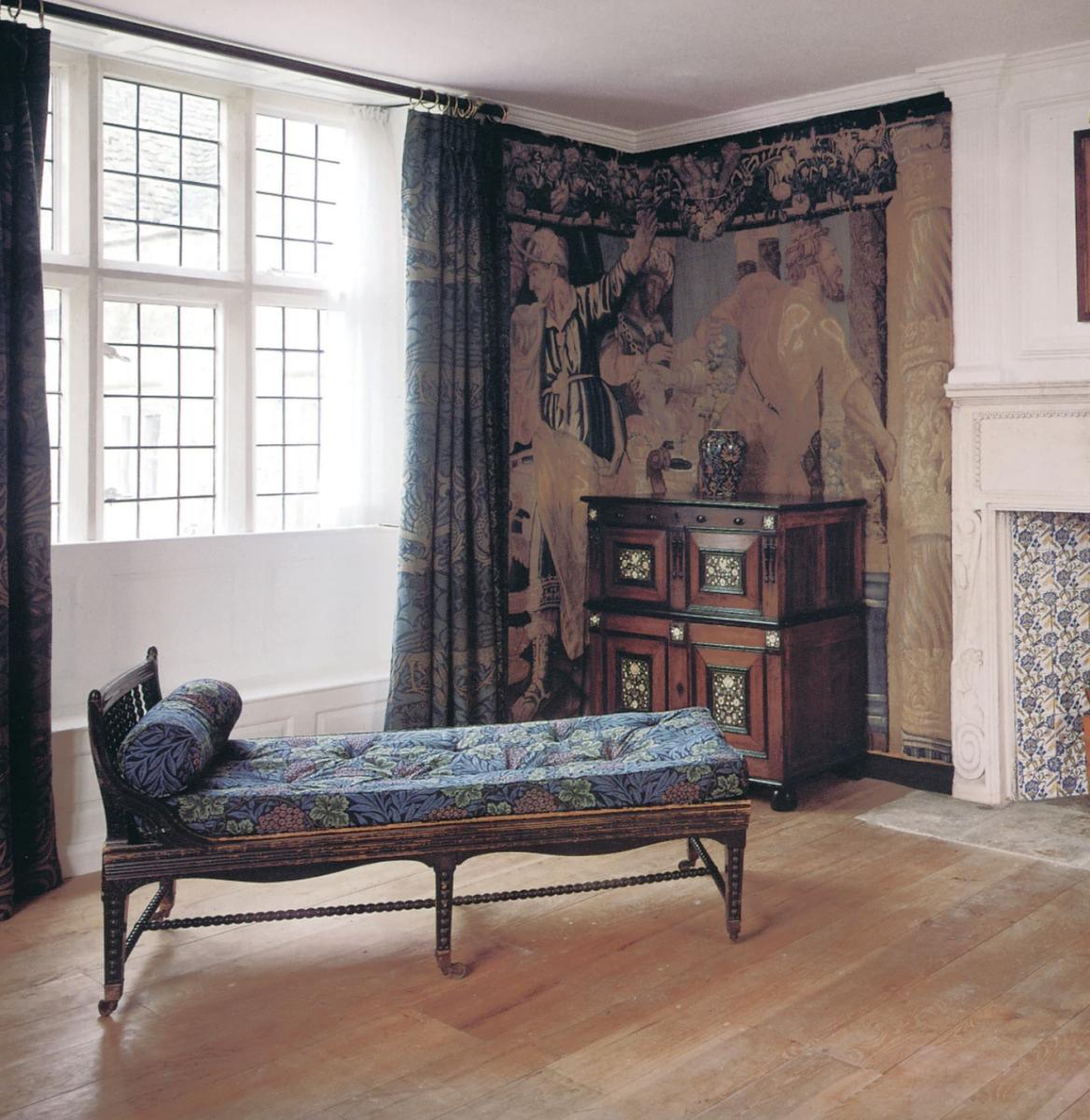 tapestry room at Kelmscott Manor
