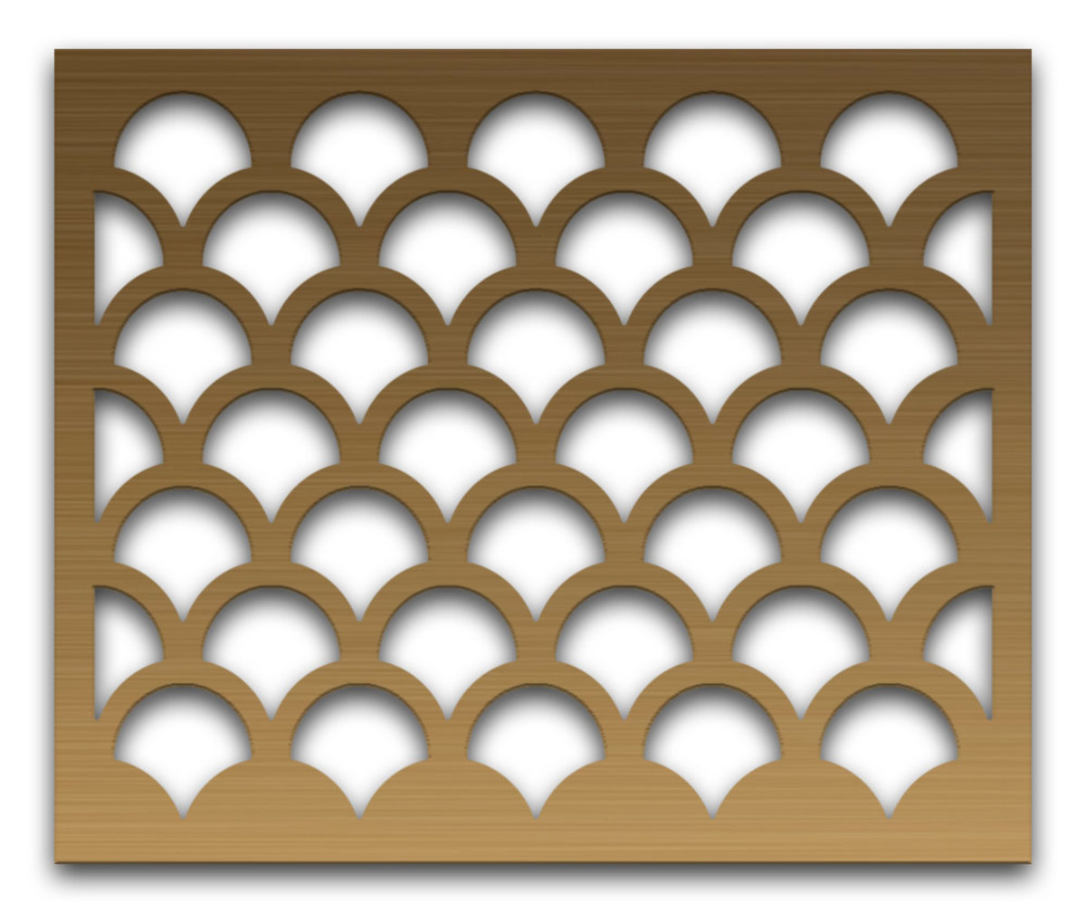 Shell Design Perforated Metal Grill from Advanced Architectural Grilleworks