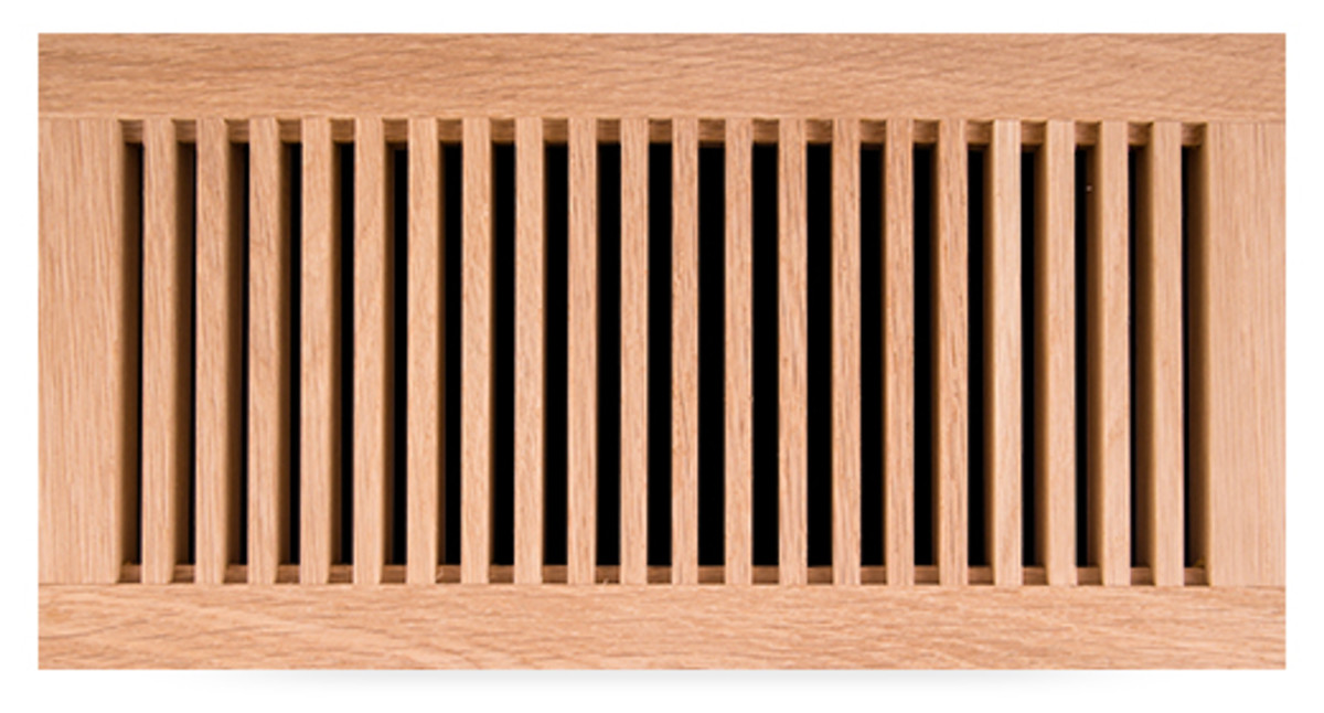 flush-mount wood grille from Pacific Register Co.