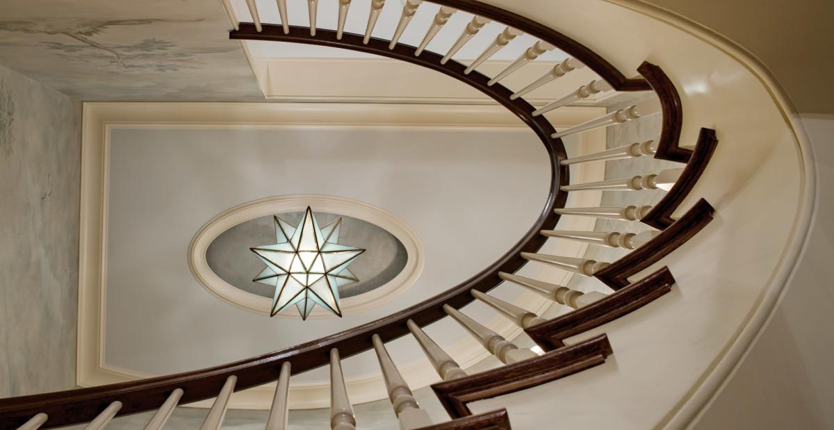 Beacon Hill staircase, Gerald Pomeroy design