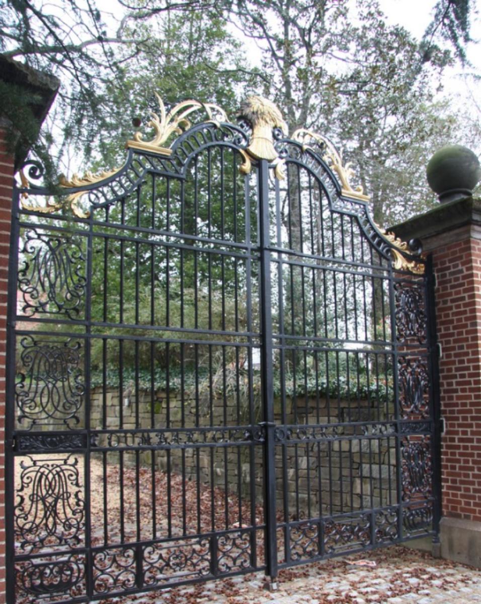 Wrought iron gates by Samuel Yellin for Dumbarton Oaks, Georgetown, Washington D.C.